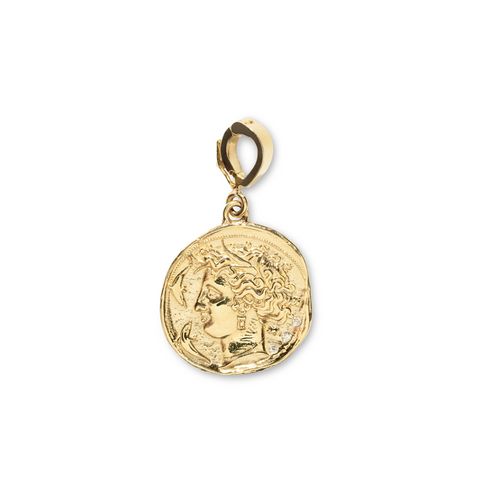 """GODDESS SMALL DIAMOND COIN"" CHARM"