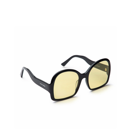"OVERSIZED ""D-FRAME"" BLACK SUNGLASSES"