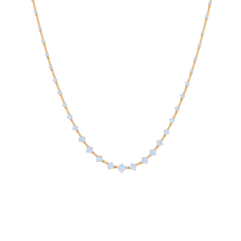 """SEQUENCE"" DIAMOND NECKLACE"