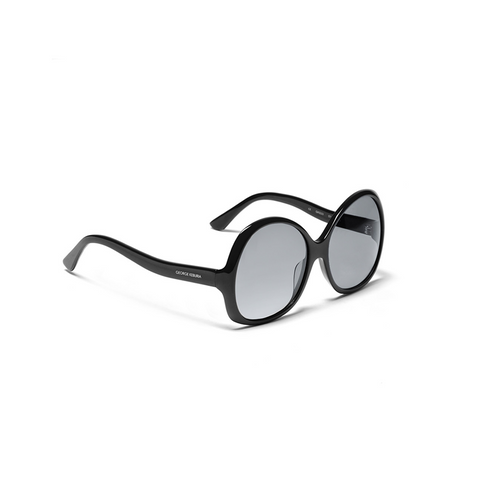 OVERSIZED ROUND BLACK SUNGLASSES