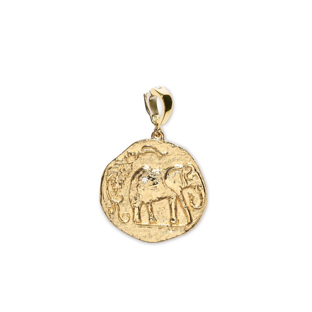 """ELEFANTE SMALL DIAMOND COIN"" CHARM"