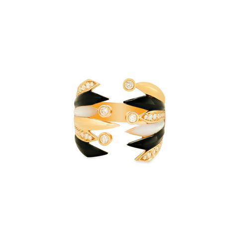 """Penacho Large Wrap Yellow Gold"" Ring"