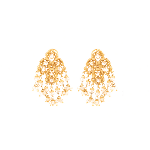 """22k Yellow Gold and Tourmaline Chandelier"" Earrings"