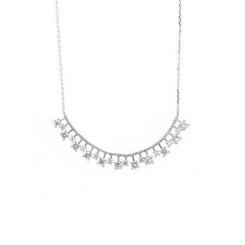 """White Crystal"" Necklace"