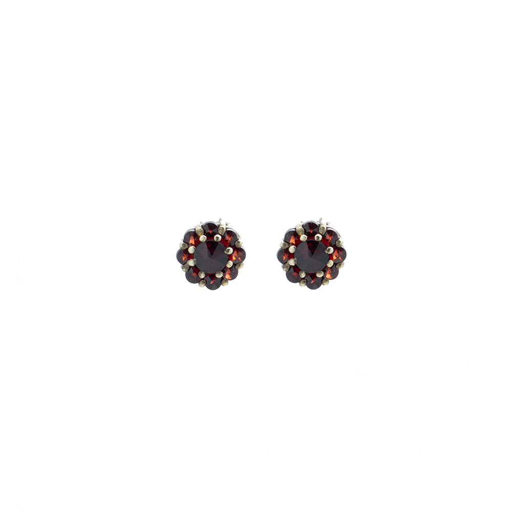 """Vintage Garnet Stud"" Earrings"