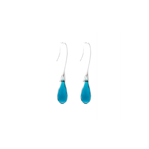 """Blue Crystal Drop"" Earrings"