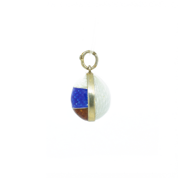 "Faberge ""White, Red & Blue Enamel Emblem Egg"" Pendant"