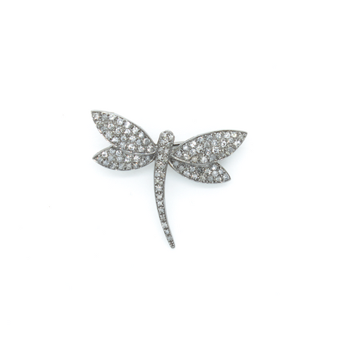 """18k Gold Dragonfly"" Brooch"