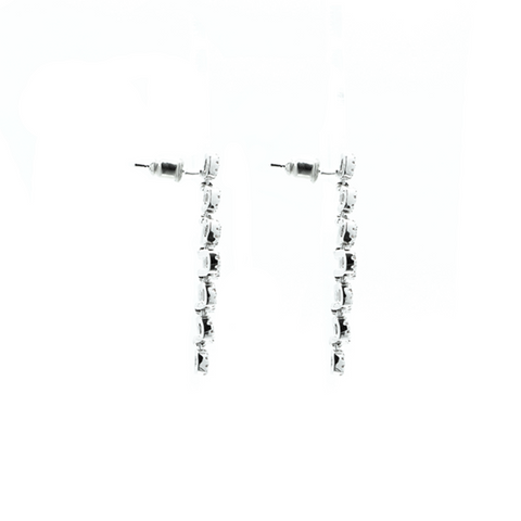 """Silver Crystal"" Earrings"