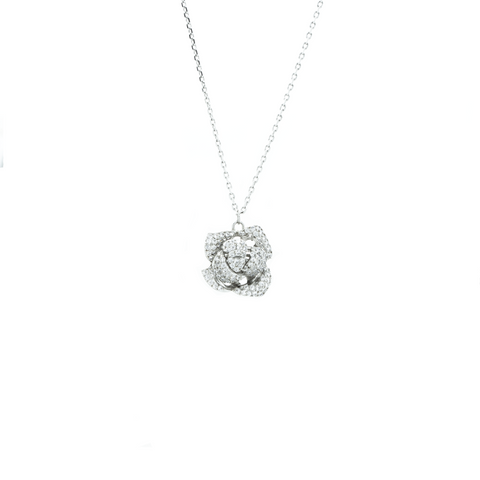 """Crystal Rose"" Necklace"