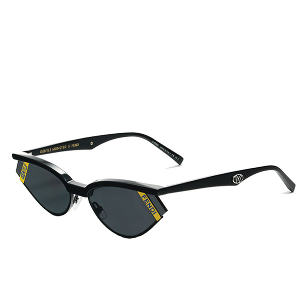"""GENTLE FENDI NO. 1"" BLACK SUNGLASSES"