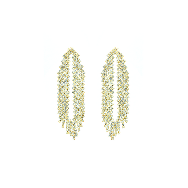 """Gold Fringe"" Earrings"