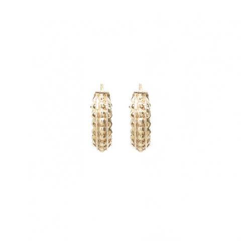 """10k Yellow Gold Hoop"" Earrings"