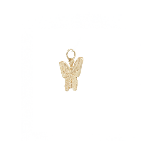 """10k Yellow Gold Butterfly Charm"" Pendant"