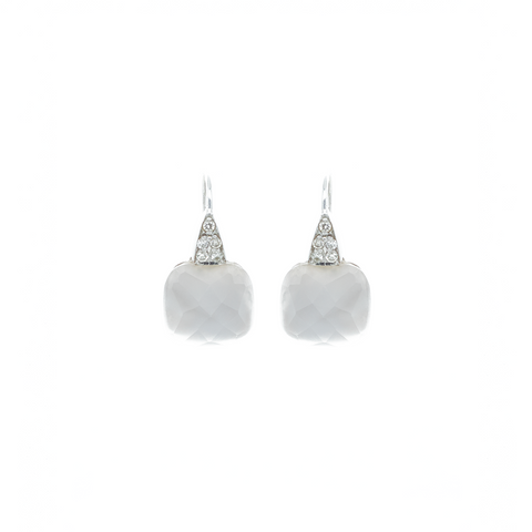 """White Agate"" Earrings"