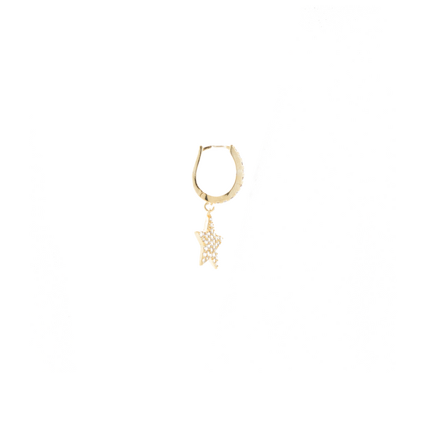 """Small Gold Star"" Mono Earring"