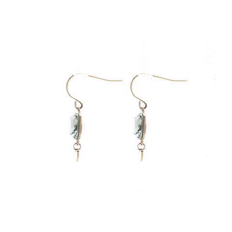"""Black Crystal Drop"" Earrings"