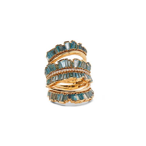 """TRIPLE RUCHED RIBBON"" 20K GOLD RING"