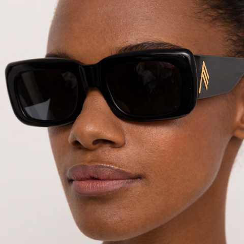 "The Attico x Linda farrow ""Mini Marfa"" Black / Grey Sunglasses"