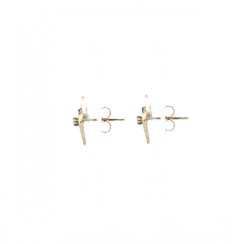 """10K Yellow Gold Kite Stud"" Earrings"
