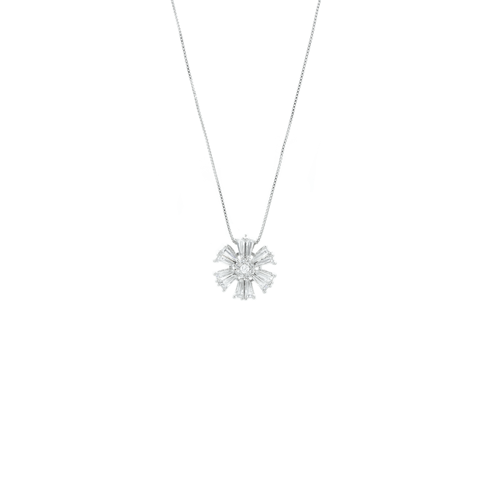 """Crystal Flower"" Necklace"