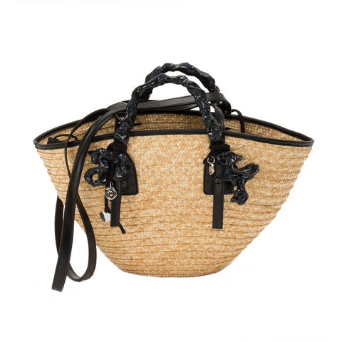 """Palm Leaf Henri"" Basket"