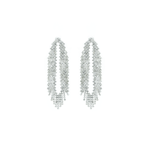 """Silver Fringe"" Earrings"