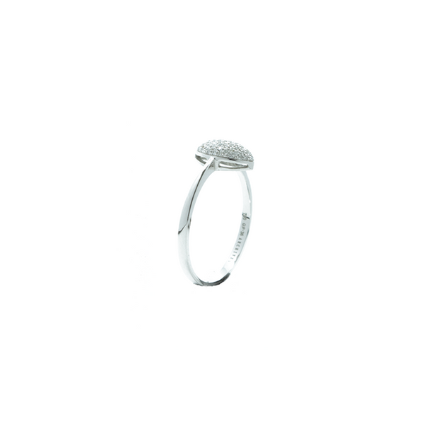 """18k White Gold and Diamond Pavé Marquise"" Ring"