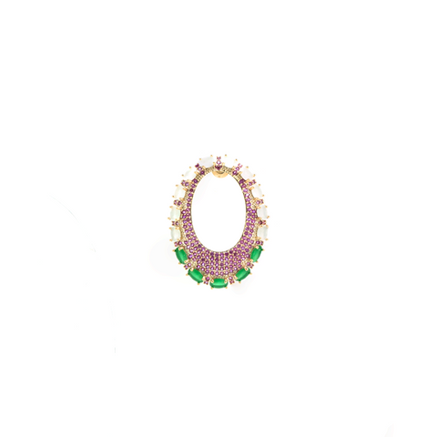 """Multicolour Hoop"" Mono Earring"