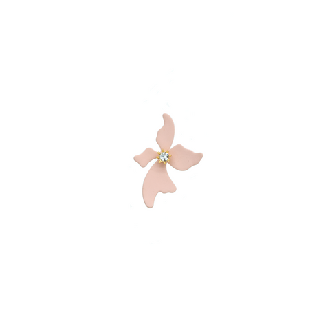 """Small Pink Flower"" Mono Earring"