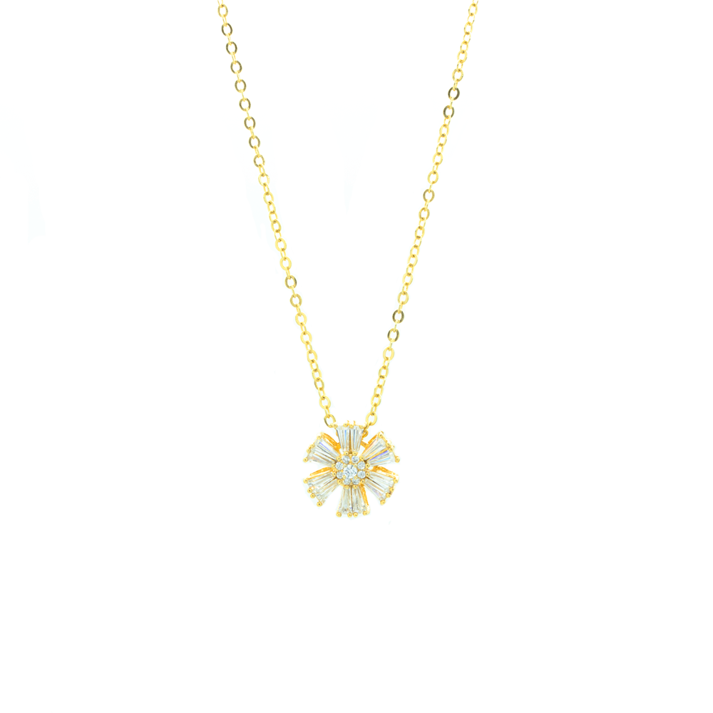 """Gold Flower"" Necklace"