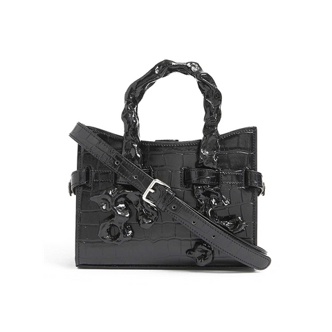 """VEGAN BLACK CROC SOFIA"" BAG"
