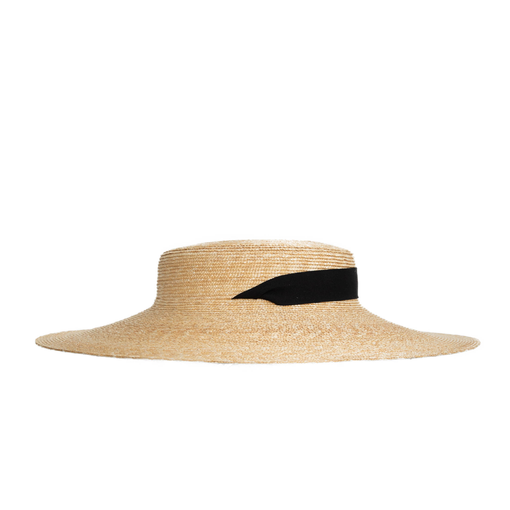 """BRAID STRAW HAT"" MIDDLE NATURAL - 5MM"
