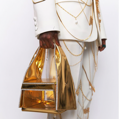 """LUNCH BOX"" GOLD BAG"