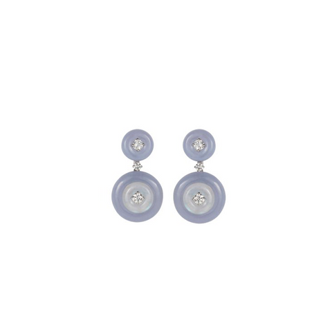 """SIGNAL"" SMALL CHALCEDONY EARRINGS"