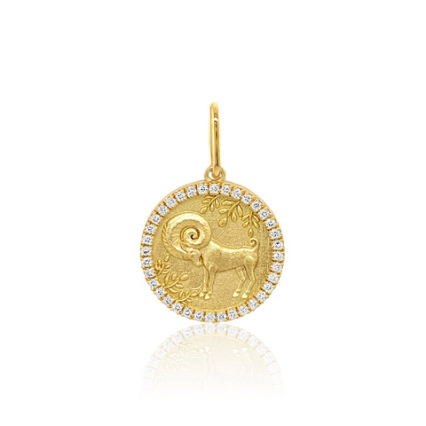 """Aries Diamond Zodiac"" Charm"