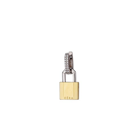 """LOCK"" 18K YELLOW GOLD EARRING"