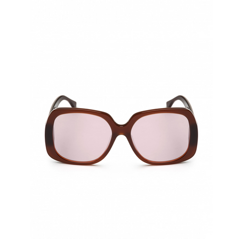 OVERSIZED SQUARE CHESTNUT SUNGLASSES