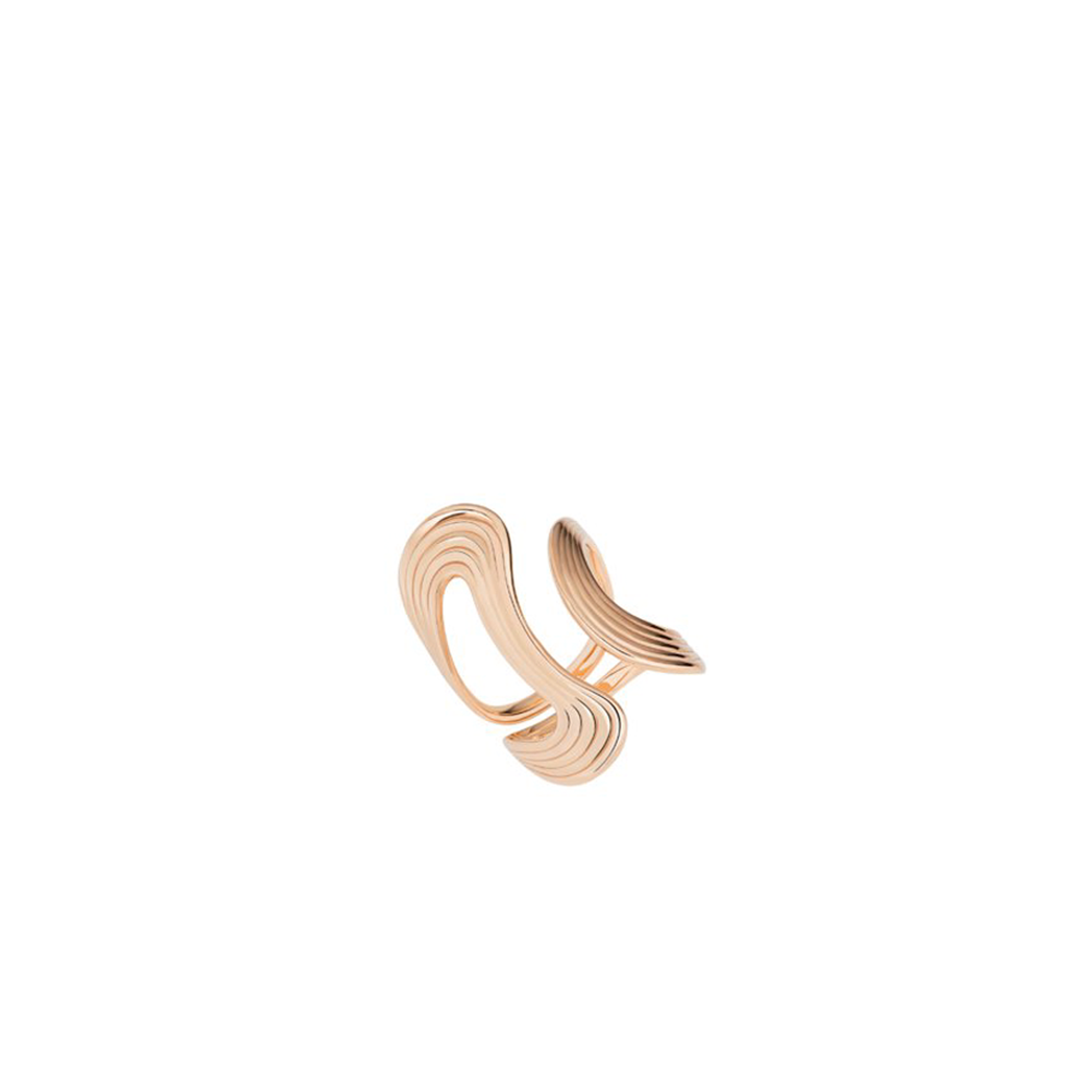"""STREAM LINES"" OPEN ROSE GOLD RING"