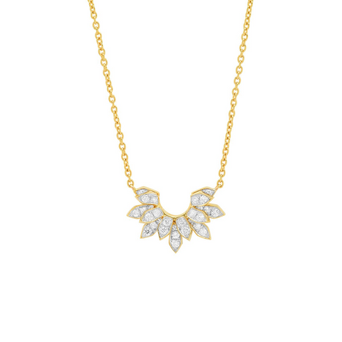 """Mini Penacho White Diamonds"" Necklace"