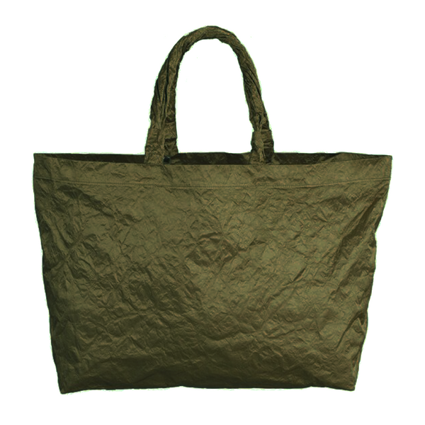 SATIN MILITARY BEACH BAG