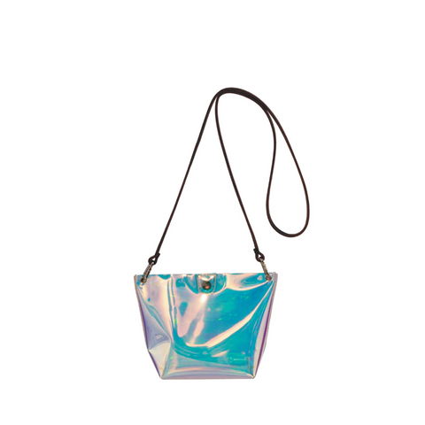 """BARCHETTA"" TRANSLUCENT BLUE FILM BAG"