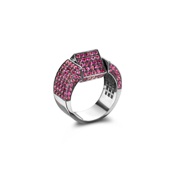 """SIGNET REVERSIBLE PINK SAPPHIRE"" RING"