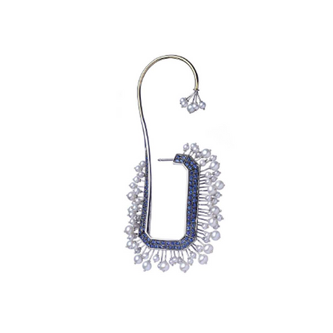 """MEDUSA"" 18K WHITE GOLD EAR CUFF"