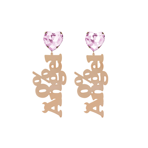 """0% Angel"" Pink Earrings"