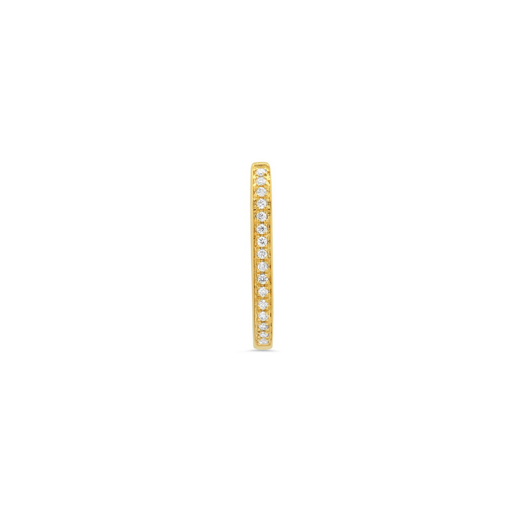 """Medium Maasai Yellow Gold Pavé White Diamond"" Hoop Earring"