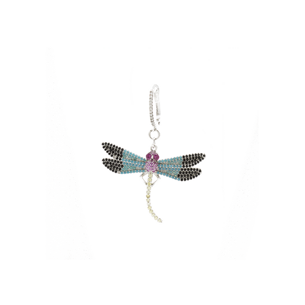 """Silver Dragonfly"" Mono Earring"