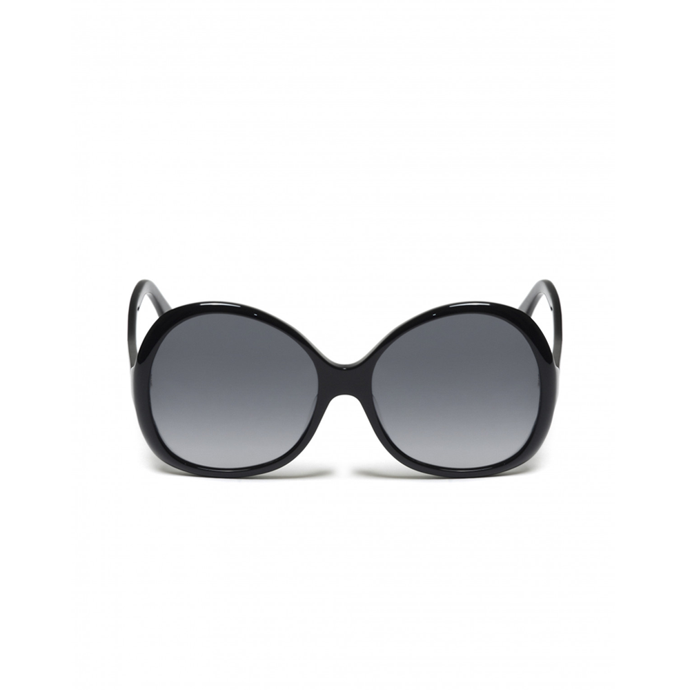 """Oversized Round"" Sunglasses - Black"