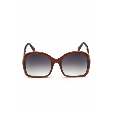 """Oversized D-Frame"" Sunglasses - Chestnut"
