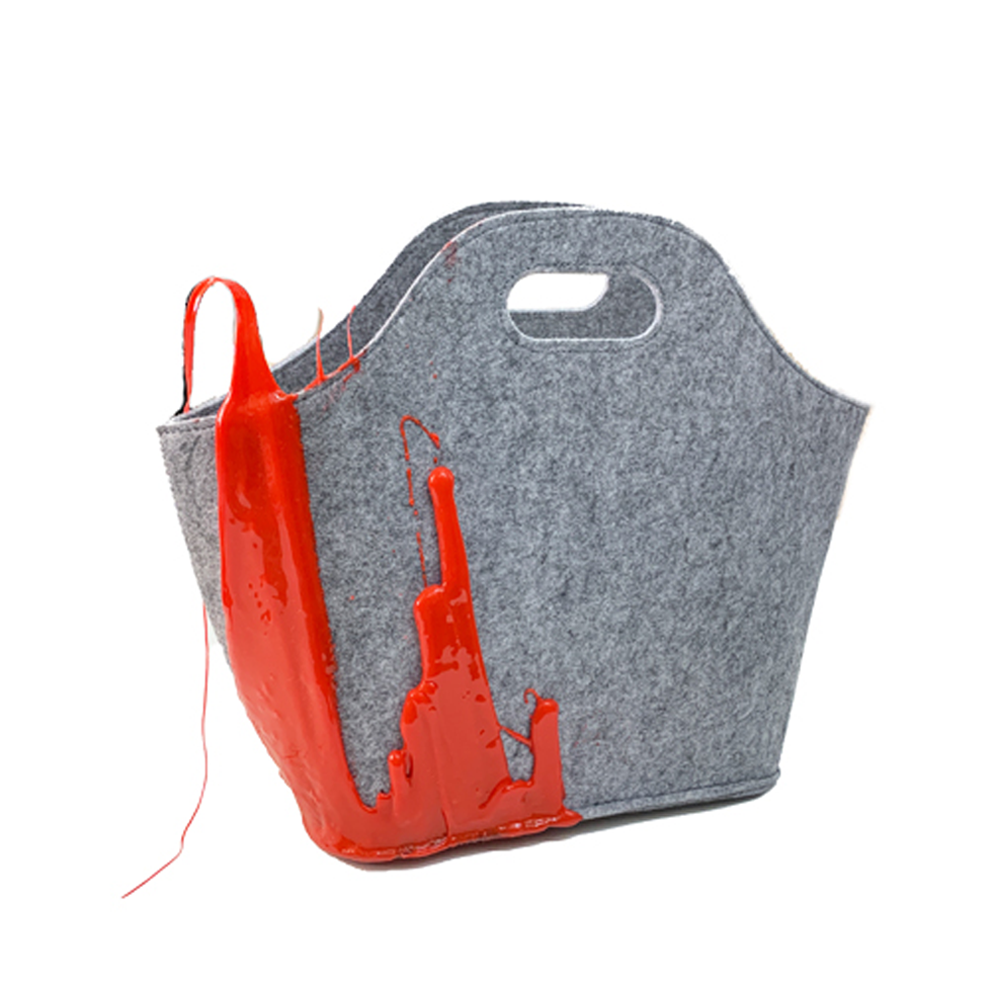 """RED HENRI BASKET"" BAG"